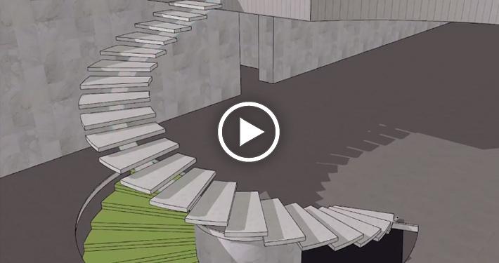 escalier en colimacon archicad